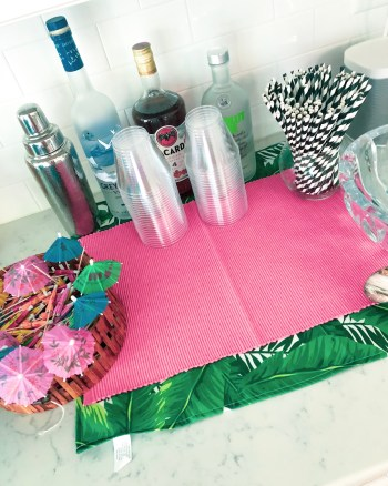 Banana Leaf Bar Set Up