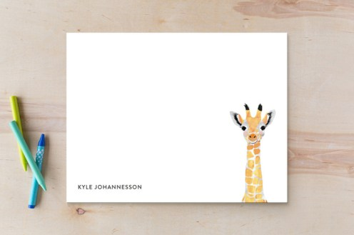 Kids thank you cards - giraffe