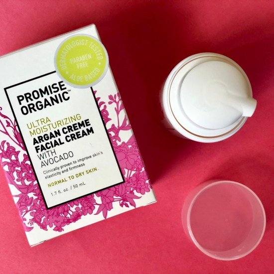 Promise Organic Ultra Moisturizing Argan Creme Face Cream With Avocado