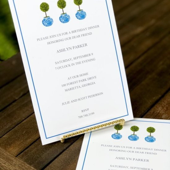topiary invitations