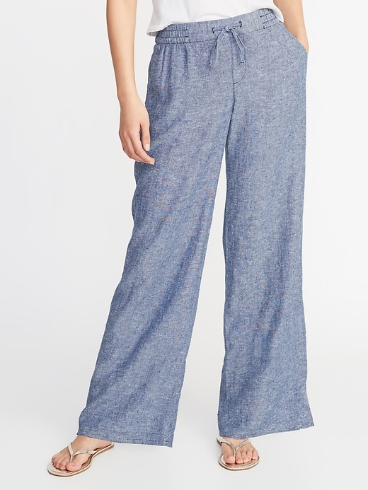 345346b861bc25 Old Navy chambray. Old Navy has a great selection of linen pants ...