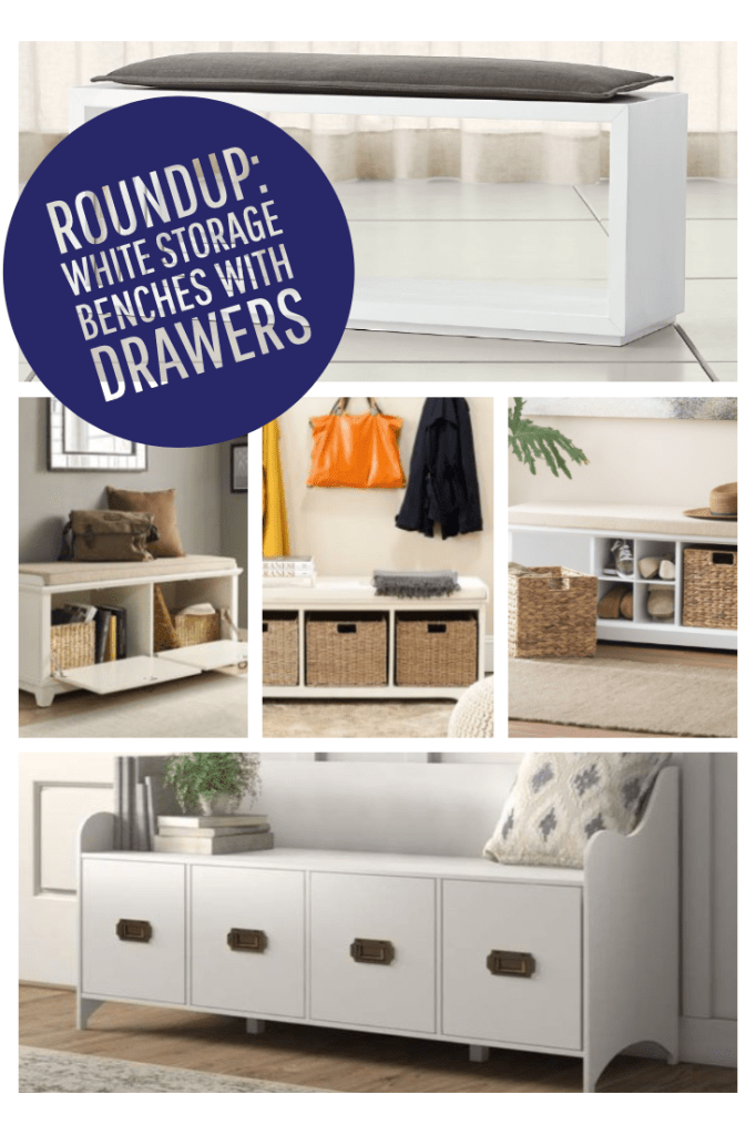 white storage bench with drawers-2