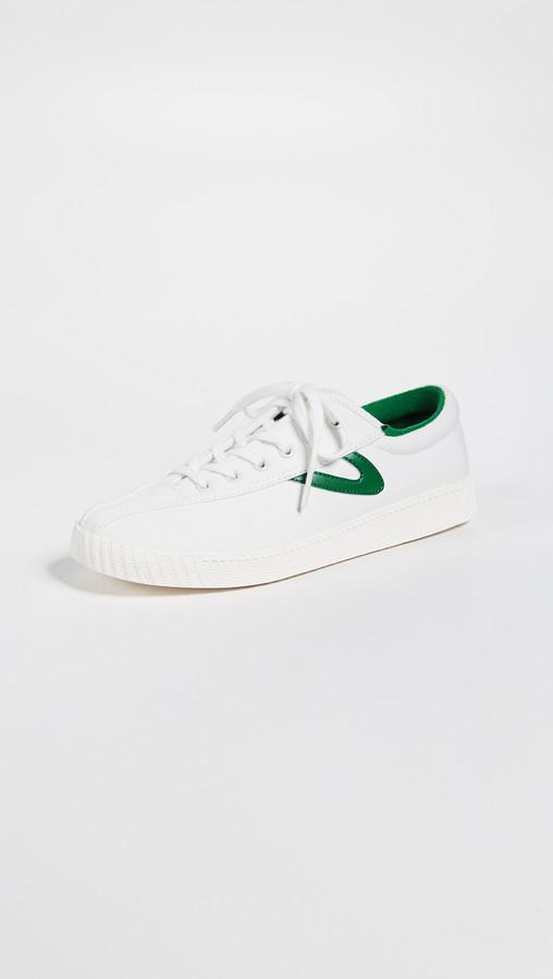 Green & white tretorn