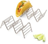 2LB Depot Taco Holder, Taco Stand, Taco Rack, Premium 18/8 Stainless Steel, Taco Holders Hold 2 or 3 Hard or Soft Shell Tacos, Set of Two - Walmart.com
