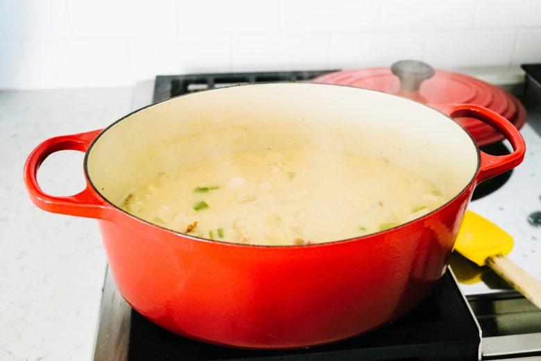 le creuset soup pot
