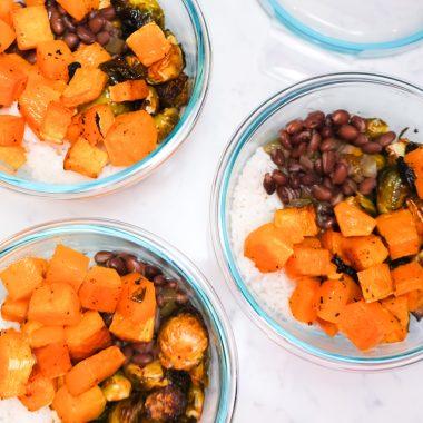 Spicy veggie lunch bowl