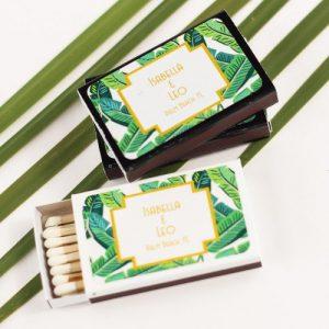 personalized banana leaf match box
