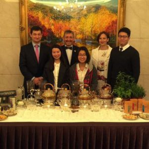 Чаепитие на приеме в Тайбэе.