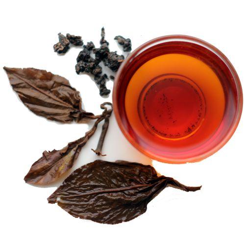 Рубиновый чёрный чай полусферической скрутки
