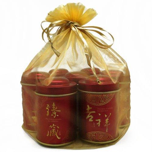 Большой подарочный набор чая в маленьких баночках