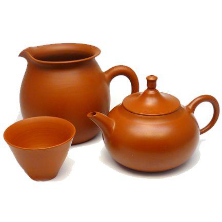 Набор для чаепитий из красной глины