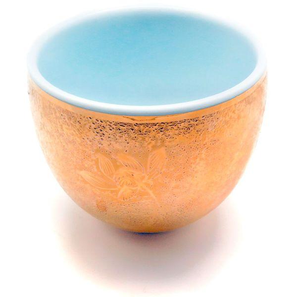 Фарфоровые пиалы с золотой инкрустацией (3 штуки)