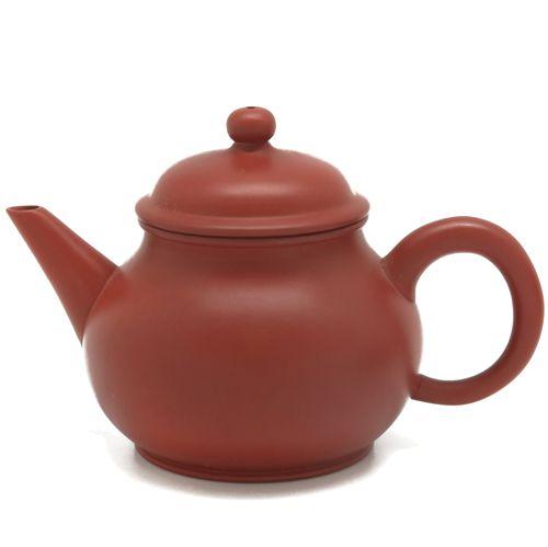 Глиняный грушевидный чайник терракотового цвета (150 мл)