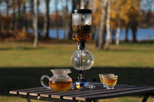 Чайный сифон фирменный «Самовар Хорольского» с газовой горелкой