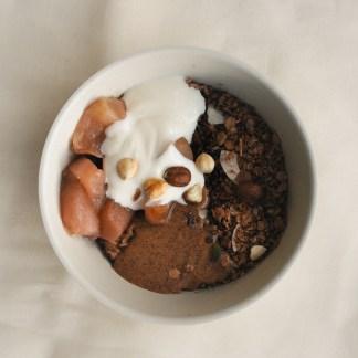 Granola bowl tea stories