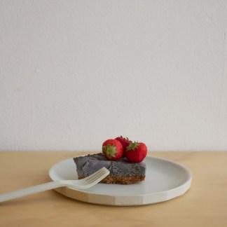 black sesame japanese cake