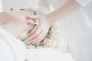 Picture of a head massage