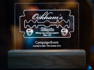 Good Thinking's Ockham Award (Photo Credit: Rob McDermott)