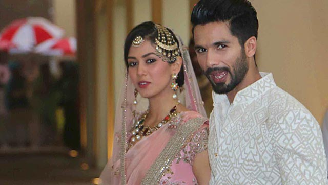 Shahid Kapoor and Mira Rajput Posing after Marriage