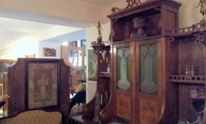 The vintage furniture