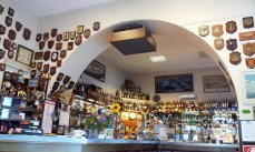 The Interior of the Bar Espresso with all the pictures on the wall