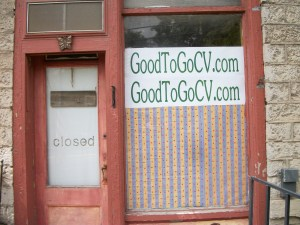 The storefront of Good to Go Organic and Local Food Takeout Restaurant in Cherry Valley, NY
