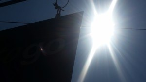 Solar Eclipse on the Good to Go Sign