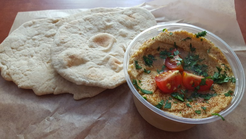 Organic, vegetarian, pita and hummus made fresh at Good to Go in Cherry Valley, NY