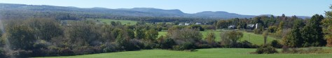 The northern edge of the Catskill Mountains, viewed from White Road, Canajoharie, NY