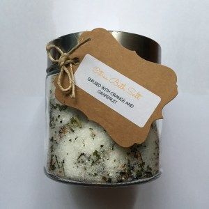 THC infused Citrus Bath Salt