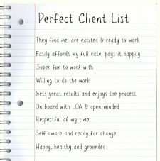 Perfect Client List for Attracting Clients