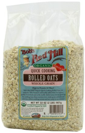 Bob's Red Mill Organic Oats Rolled Quick, 32-Ounce (Pack of 4)