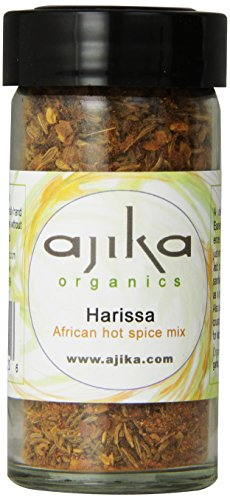 Ajika Organic Harissa Spice Blend – Hot Chili Seasoning From Africa, 2.0-Ounce