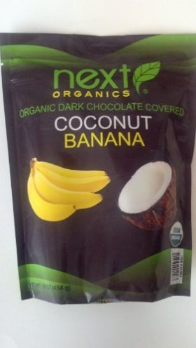 Next Organics Organic Dark Chocolate Covered Coconut Bananas 16 Oz
