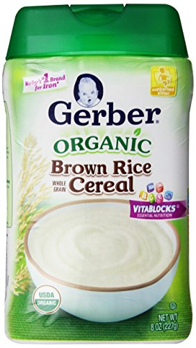Gerber Baby Cereal, Organic Brown Rice, 8 Ounce (Pack of 6)