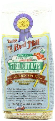 Bob's Red Mill Organic Steel Cut Oats, 4 – 24-Ounce bags