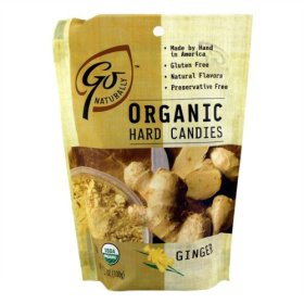 Go Naturally USDA Organic Ginger Hard Candy, 3.5 oz bag of individually wrapped candies