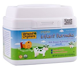 Vermont Organics Milk-Based Organic Infant Formula with Iron, 23.2 oz.  (pack of 4) (Packaging May Vary)