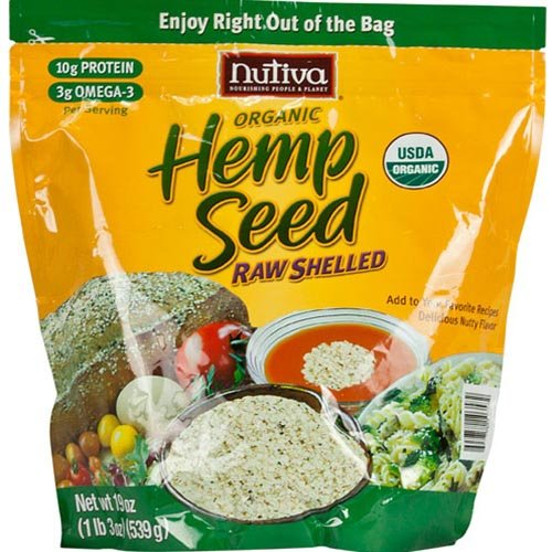 Nutiva – Organic Hempseed Raw Shelled – 19 oz.