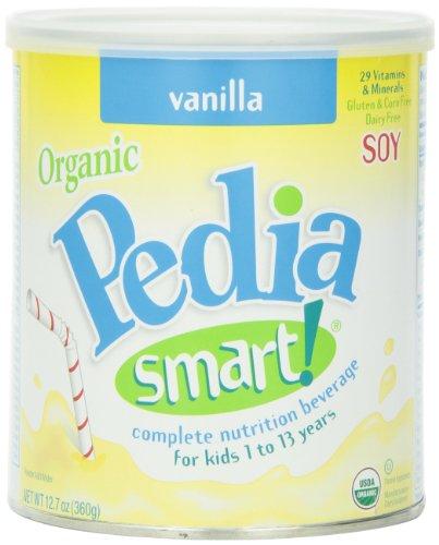PediaSmart Organic SOY Vanilla Complete Nutrition Beverage Powder, 12.7 Ounce