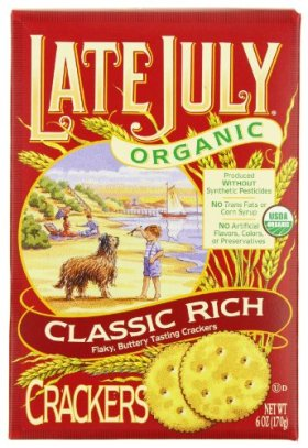 Late July Organic Classic Rich Crackers, 6-Ounce Boxes (Pack of 12)