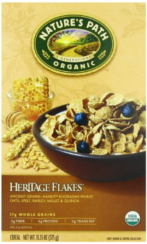 Nature's Path Organic, Heritage Flakes, Whole Grains Cereal, 13.25-Ounce Boxes (Pack of 6)