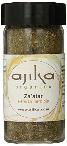 Ajika Organic Green Za'atar (Zaatar) – Herbal Seasoning for Bread, Cheese and Rice, 2-Ounce