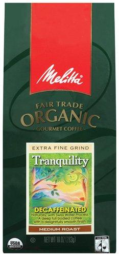 Melitta Fair Trade Organic Coffee, Tranquility Decaffeinated Ground, Medium Roast, 10 ounce