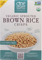 One Degree Organic Foods Sprouted Brown Rice Crisps Cereal — 8 oz