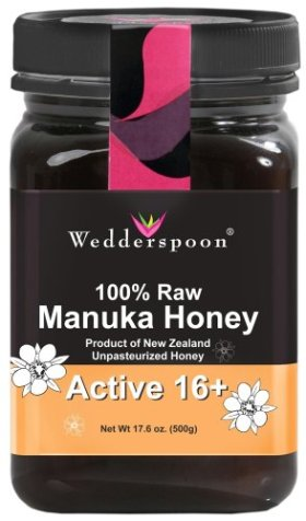 Wedderspoon Organic – Manuka Honey Premium Unpasteurized Active 16+ – 17.6 oz.