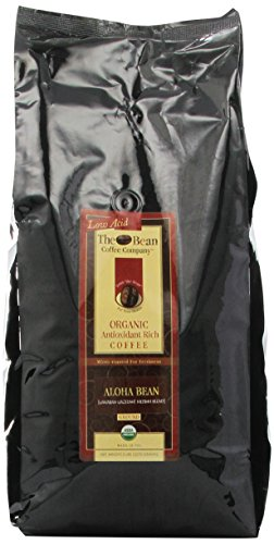 The Bean Coffee Company, Aloha Bean (Hawaiian Hazelnut) Organic Ground Coffee, 5-Pound Bags