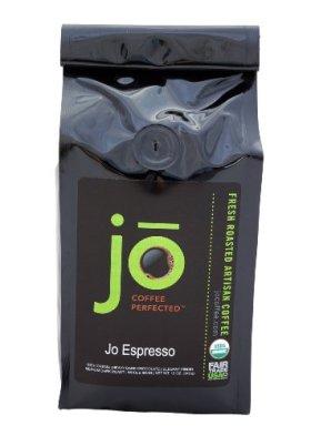 JO ESPRESSO: 12 oz, Medium Dark Roast, Whole Bean Arabica Espresso Coffee, USDA Certified Organic Espresso, Fair Trade Certified, Gourmet Espresso Beans from the Jo Coffee Collection
