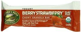 Nature's Path Organic Granola Bars, Yogurt Berry Strawberry, 5-Count Bars (Pack of 6)