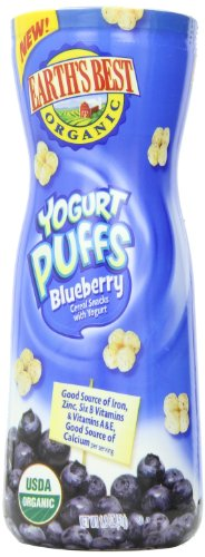 Earth's Best Organic Yogurt Puffs, Blueberry, 1.8 Ounce (Pack of 6)